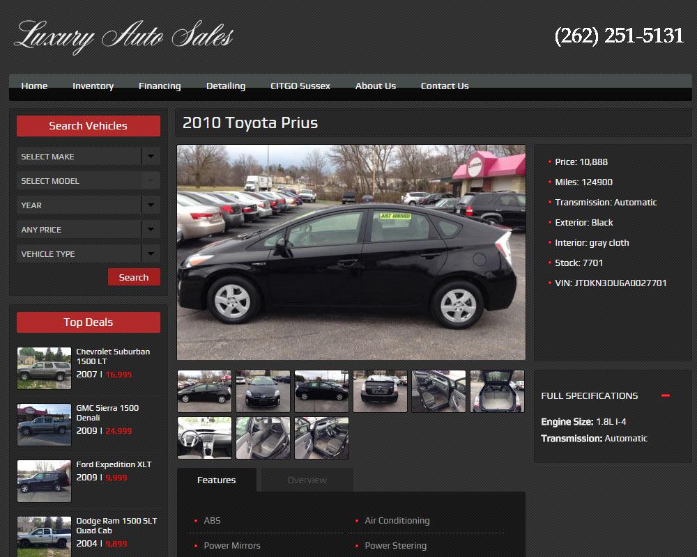 Used Car Dealership – Milwaukee Web Design and SEO Specialist